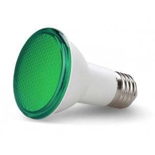 Lâmpada LED Par20 7W Verde...