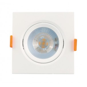 Spot LED Quadrado 5W Branco...