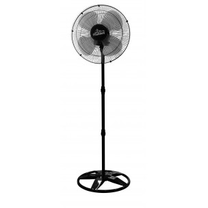 Ventilador Oscilante de Coluna 50CM Preto Grade Aço Bivolt - Venti Delta