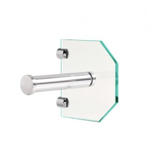 Porta Papel Higiênico Luxo Vidro Incolor - Balibox