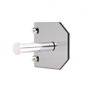Porta Papel Higiênico Luxo Vidro Fumê - Balibox