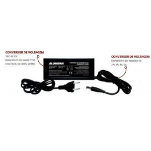 Conversor de Voltagem / Fonte Automática Saida 12V 4A - Alumbra