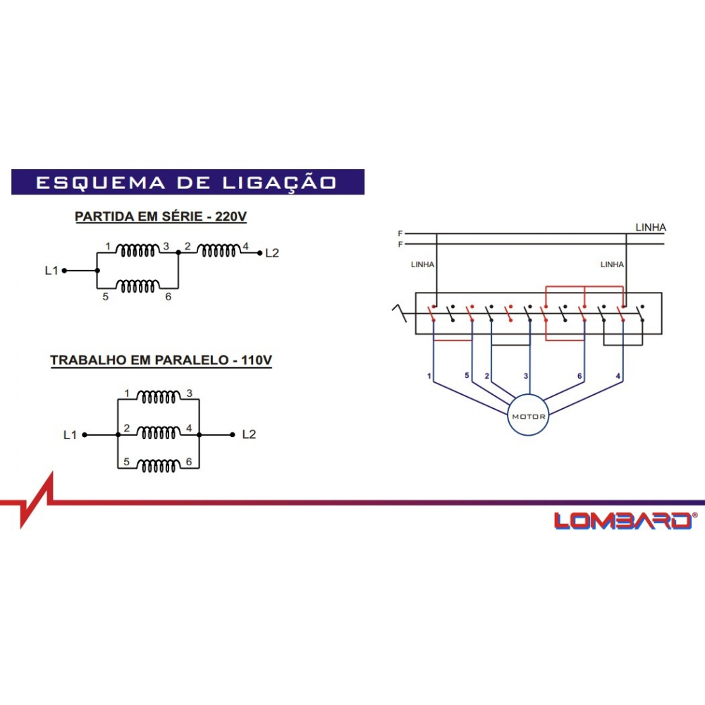 Fechadura Estrela ~ Chave Série Paralela 15HP MSP130 Lombard