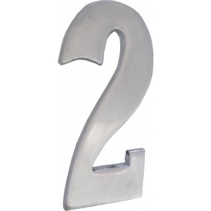 Algarismo Numero 2 Pequeno 10x5 cm de Aço Prata - Splendore