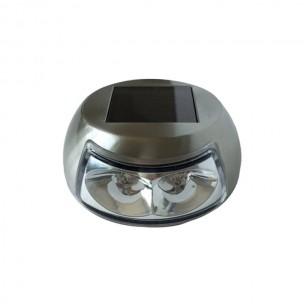Balizador Solar Led Inox de Piso e Parede Kit 2 Unidades - Ecoforce