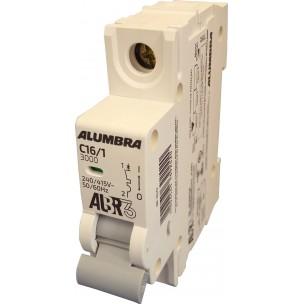 Disjuntor Termomagnético ALBR3 Unipolar Din 16a - Alumbra