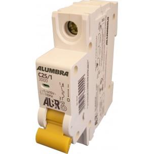 Disjuntor Termomagnético ALBR3 Unipolar Din 25a - Alumbra