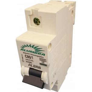 Disjuntor Termomagnético ALBR Unipolar Din 80A - Alumbra