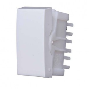 Módulo Interruptor Simples Branco Siena - Alumbra