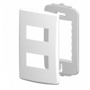 Placa 4x2 c/ Suporte p/ 2 Módulos Separados Branco Siena - Alumbra