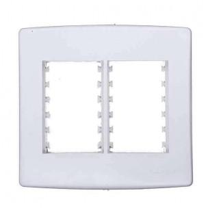 Placa 4x4 c/ Suporte p/ 6 Módulos Branco Siena - Alumbra