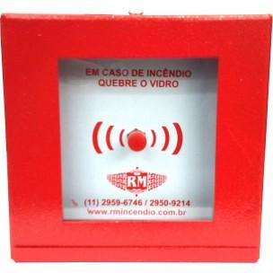 Botoeira Quebra Vidro Manual para Alarme de Incêndio - Rm