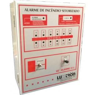 Central de Alarme de Incêndio 12 Setores 12V com Bateria Interna - Luxtron