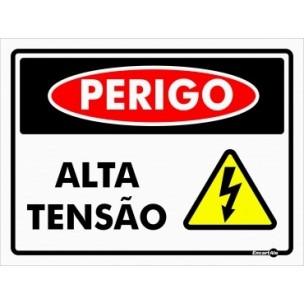 Placa de Sinalização Perigo Alta Tensão 20x15 - Encart