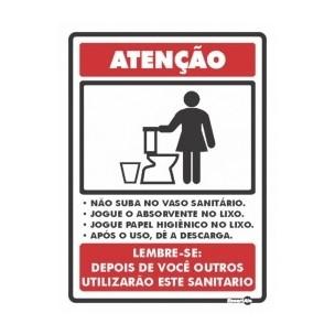 Placa de Sinalização Higiene no Banheiro Feminino 15x20 - Encart