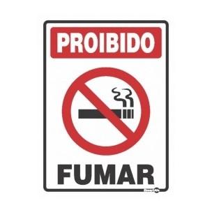 Placa Sinalizadora Proibido Fumar 15x20 - Encart