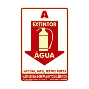 Placa de Sinalização Extintor Água 20x30 - Encart