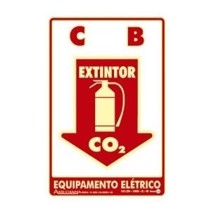 Placa de Sinalização Extintor CO² 20x30 - Encart