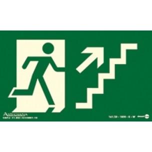 Placa Escada de Emergência Subindo Esquerda 20x15 - Encart