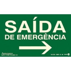 Placa Saída de Emergencia para Direita 20x15 - Encart