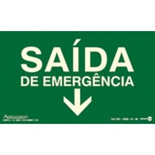 Placa Saída de Emergencia 25x15 - Encart