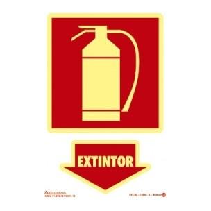 Placa de Sinalização Extintor de Incêndio 20x30 - Encart