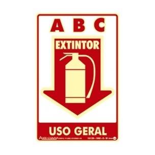 Placa de Sinalização Extintor de Uso Geral 20x30 - Encart