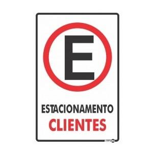 Placa Estacionamento para Clientes 20x30 - Encart