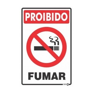 Placa Proibido Fumar 20x30 - Encart