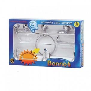 Kit com 6 Peças para Banheiro Bonno 6 Cristal - Aquaplas