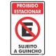 Placa Proibido Estacionar Sujeito a Guincho20 x 30 Encart