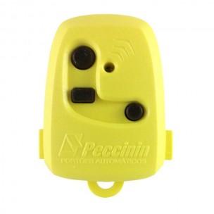 Controle Remoto para Portão Peccinin Amarelo 433 Mhz