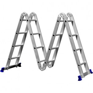 Escada Multifuncional Articulável 8 Posições Alumínio Alumab