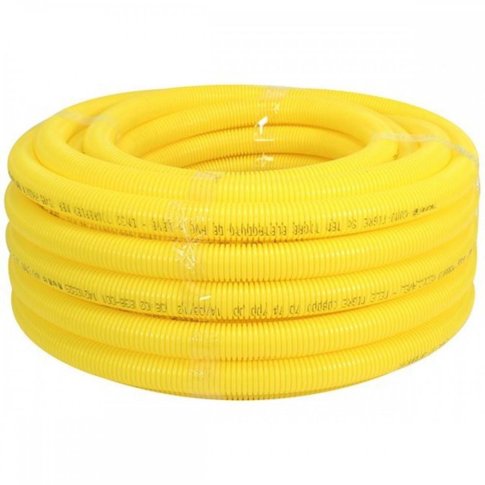 Mangueira Corrugada Amarela 25mm 3/4 Amanco