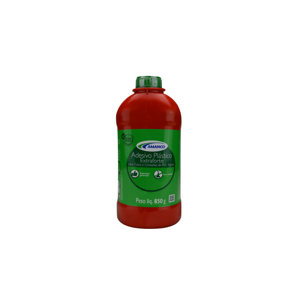 Cola Plástica para PVC 850g Extra Forte - Amanco
