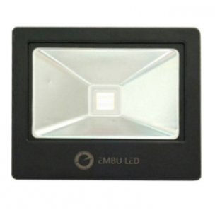 Refletor Led Slim 10w Branco Embuled