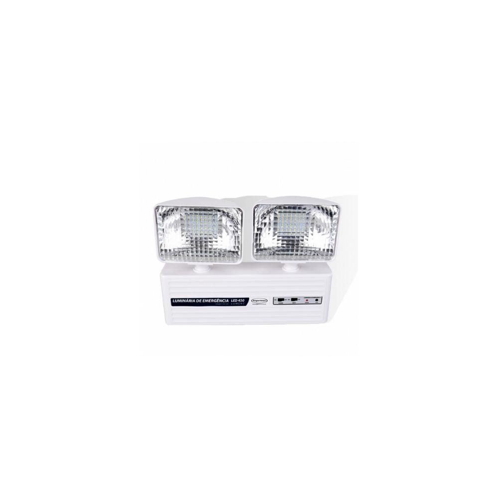 Iluminacao de Emergencia LED 450 Lumens 2 Farois Segurimax