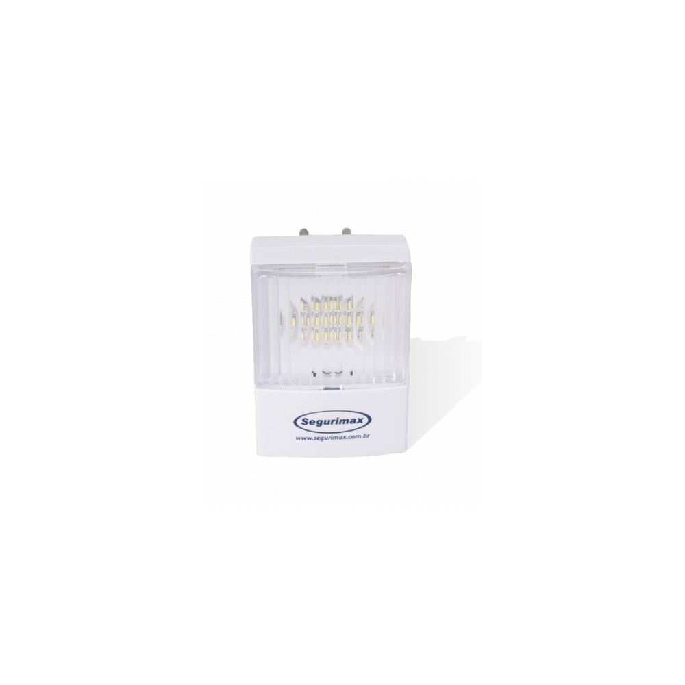 Iluminacao de Emergencia LED 50 Lumens 2 Farois Segurimax