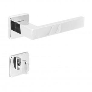 Fechadura para Banheiro Quadra INOX Polido 55mm - Arouca