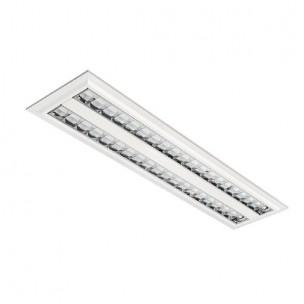 Luminária Embutir Aletas Cromadas 2x16/20W