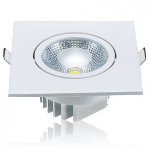 Spot LED Quadrado 5W BIV 3000K Luminatti
