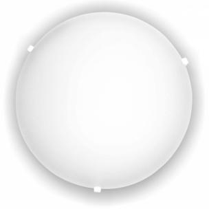 Plafon Redondo 30CM 2 X E-27 Branco Cristal - Blumenau