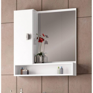 Espelheira Orquídea em MDF 60cm - Cozimax
