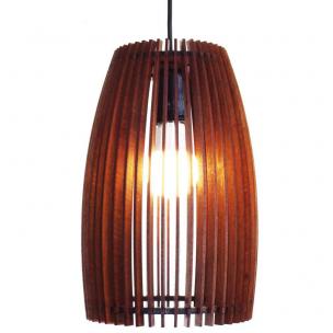 Pendente Wood Barrel 1xE27 - 3D Luz