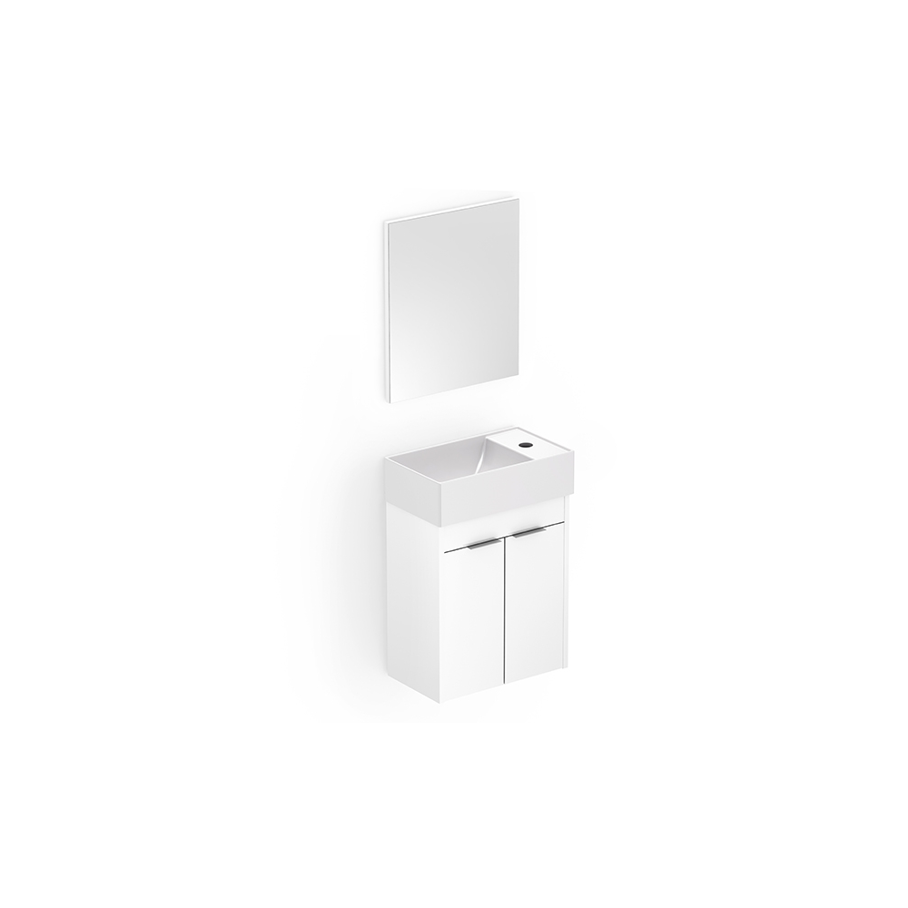 Gabinete Saveiro 2 Portas c/ Espelho 40x22 - Celite