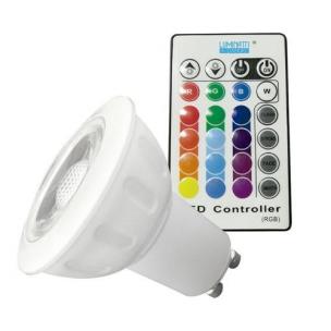Lampada Dicroica LED 3,5w RGB com Controle Luminatti