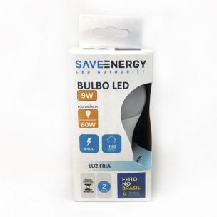 Lâmpada LED Bulbo A60 9W Branco Frio - Save Energy