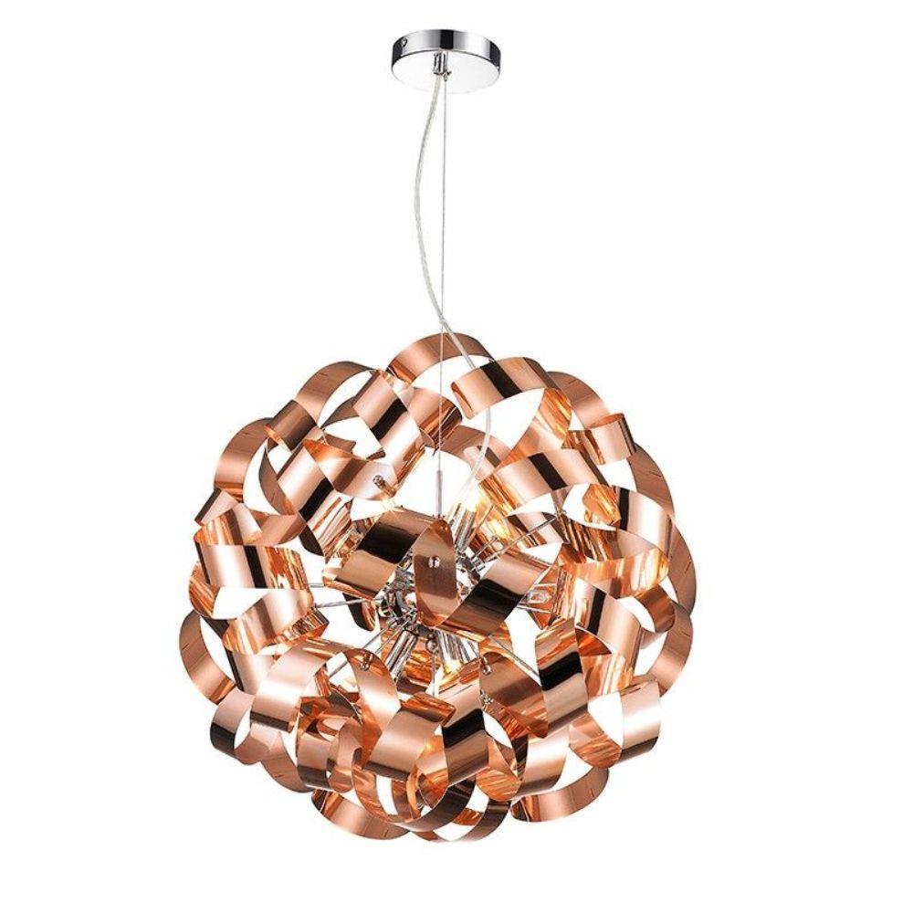 Pendente Bronze 45x45cm 9XG9 -Mais Luz