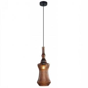 Pendente Narguile com Vidro Café 14x41.5cm - Mais Luz