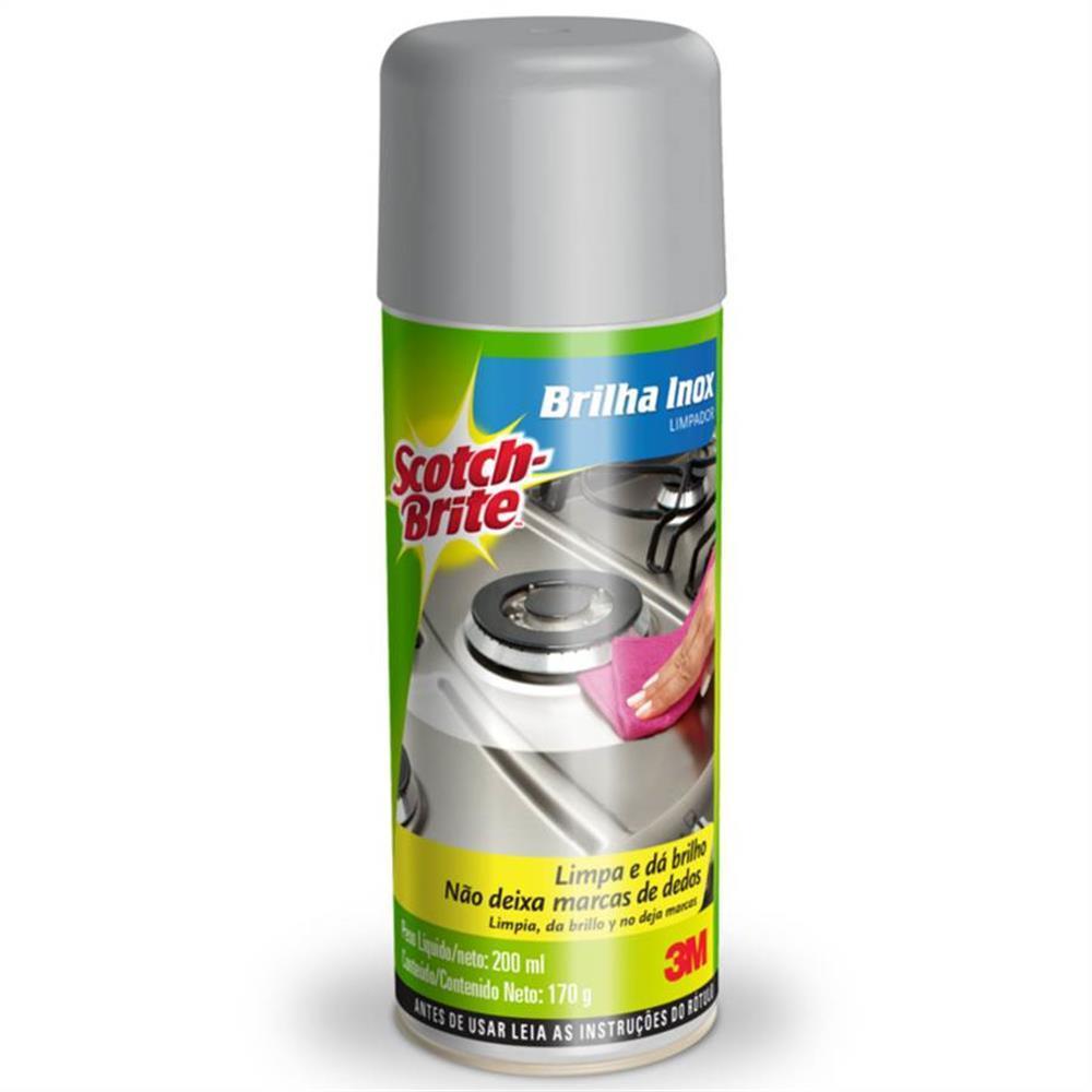 Limpador Spray Brilha Inox Scotch Brite - 3M